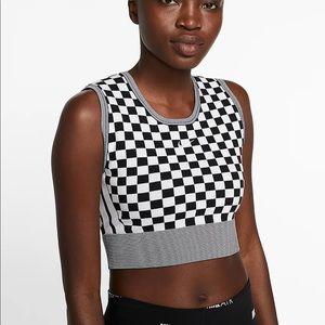 Nike Checkered Crop Knit Tank